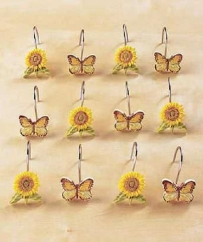Sunflower Butterfly Country Cottage Bathroom Collection U0026 Accessories