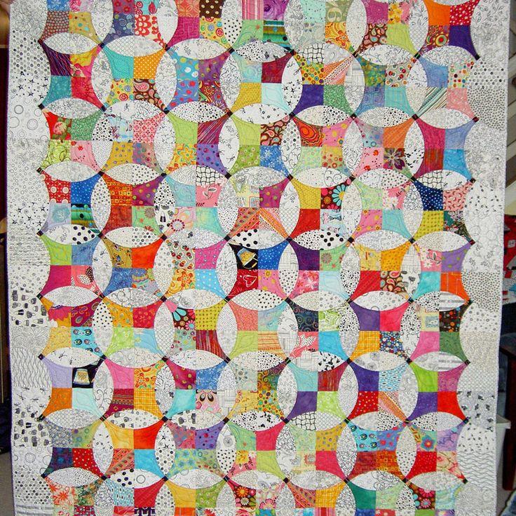 Fabulous Flowering Snowballs quilt by Jlapac on Threadbias