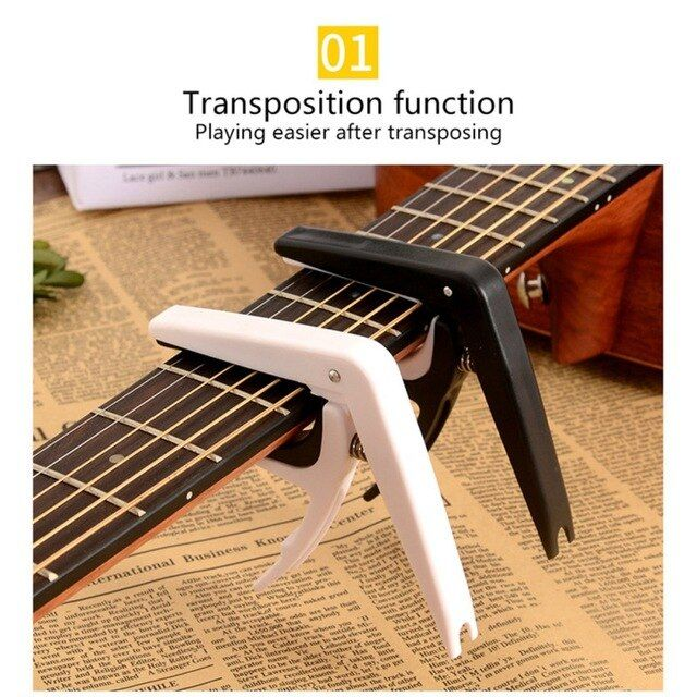 Professional Abs Metal Tune Guitar Tuner Clamp Key Trigger Capo For Acoustic Electric Musical Guitar Capo For Guita Guitar Tuners Guitar Capo Acoustic Electric