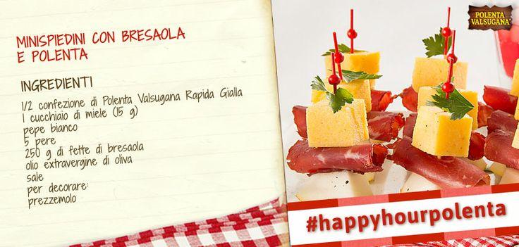 Una ricetta fresca e appetitosa con #polenta , #pere e #bresaola : questi #minispiedini sono belli da vedere e ottimi da gustare! #polentavalsugana  http://bit.ly/1opo22l