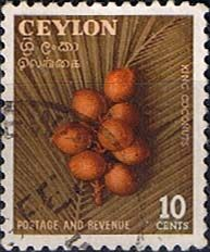 Ceylon 1954 King Coconuts Fine Used                    SG 435 Scott 329    Other Asian and British Commonwealth Stamps HERE!