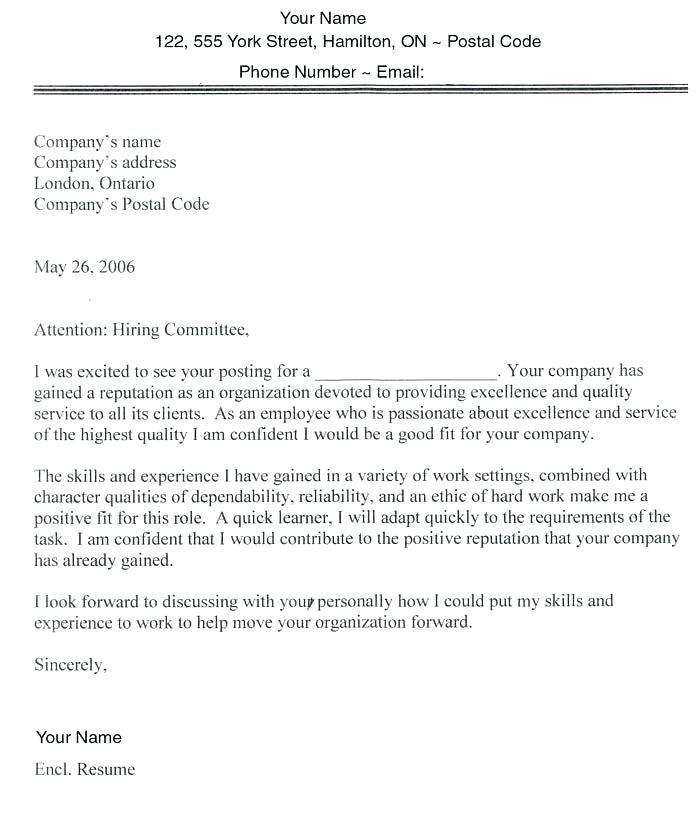 resume layout canada