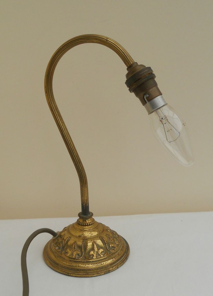 VINTAGE SWAN NECKED ORNATE BRASS TABLE LAMP ~ NOW ON MY EBAY SITE LUBBYDOT1