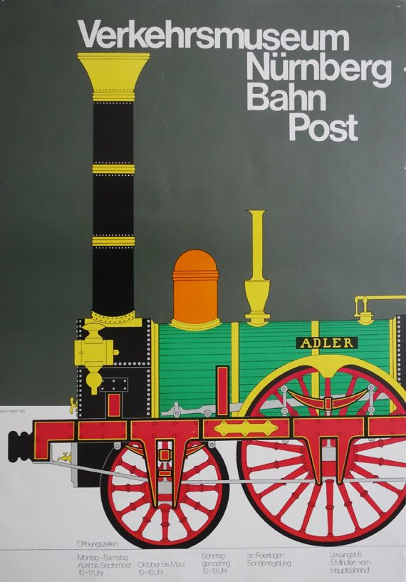 1980s DB Railway Advertisement Verkehrsmuseum by OutofCopenhagen