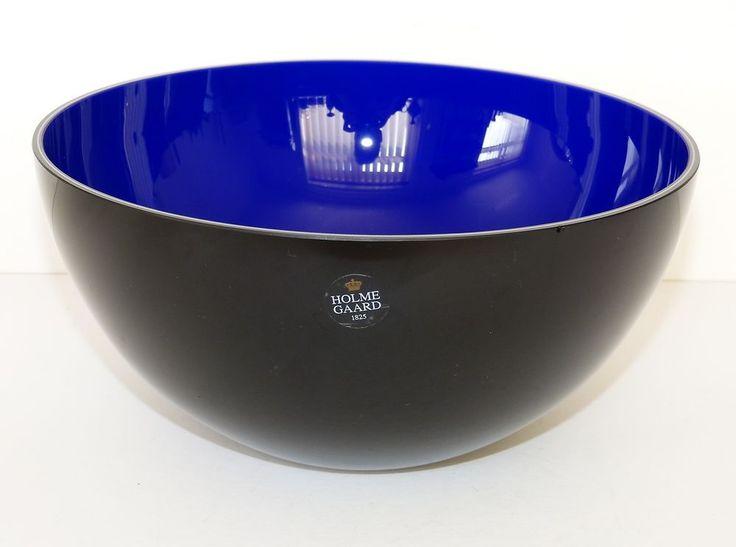 HOLMEGAARD Glass SENSE Black Blue 8.75  LARGE BOWL ANJA KJAER Kjær PHILIPS Promo