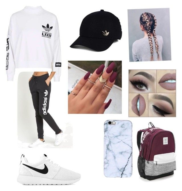 """""""Untitled #45"""" by jaraujo3 on Polyvore featuring adidas, adidas Originals, NIKE and Victoria's Secret"""