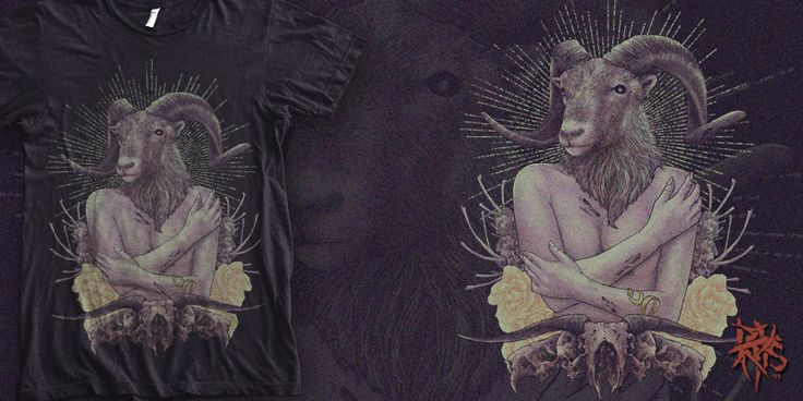 """""""Beauty Goat  [ FOR SALE  ]"""" t-shirt design by RectopusArt"""