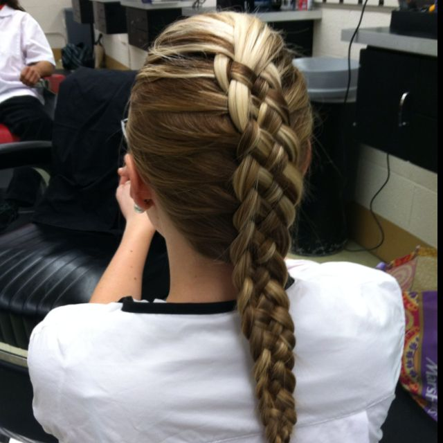 5 strand French braid. @Daniela Robertson-Schwartz did this for me for a softball tournament once... you remember?