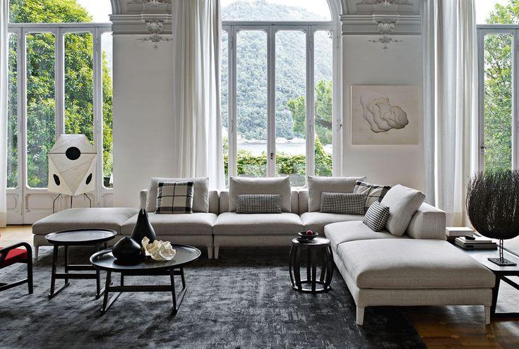 Corner sofa / contemporary / fabric / multiplace DIVES MAXALTO