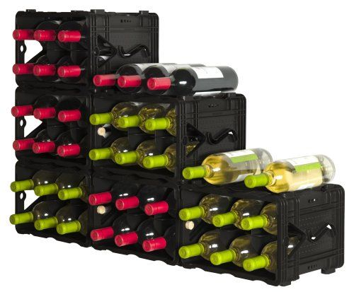 $17.99-$19.99 Storvino Nero 6 Bottle Wine Storage Container - Made from 100% post consumer recycled plastic, previously in the form of garbage cans, shopping carts, produce bins, beverage and bread trays and retired recycle crates. http://www.amazon.com/dp/B001C01S6W/?tag=pin2wine-20