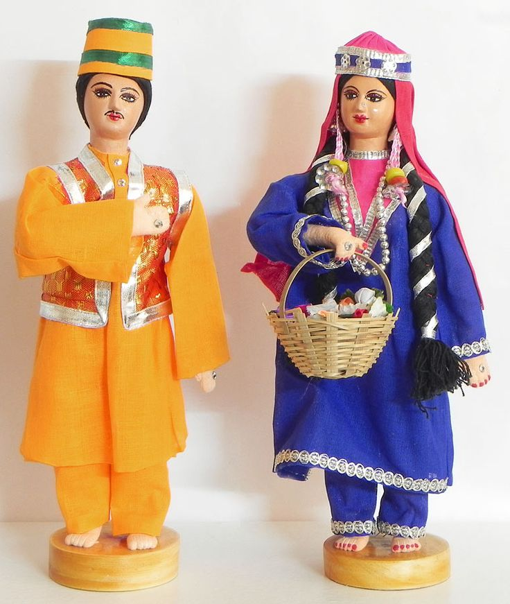 Couple from Kashmir, India - Costume Cloth Dolls