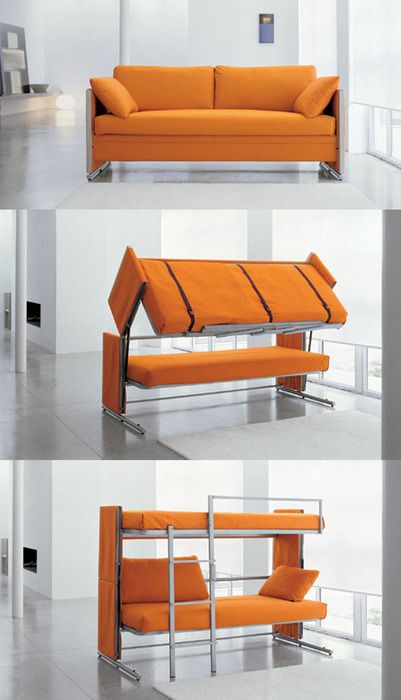 NOT a Murphy Bed ... BUT....A Couch to Bunk Bed....WOW....!!!!