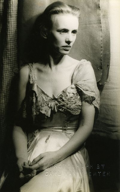 Jessica Tandy, 1949, as Blanche Du Bois in 'A Streetcar Named Desire,' the role she originated on Broadway (played later by Vivian Leigh in film version w/Marlon Brando). Photo by Carl Van Vechten