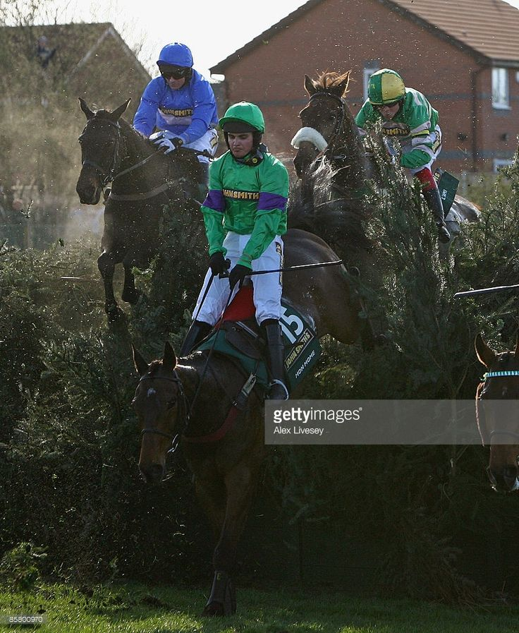 Mon Mome ridden by Liam Treadwell clears Becher's Brook on the way to victory in the John Smith's Grand National Steeple Chase at Aintree Racecourse on April 4, 2009 in Liverpool, England