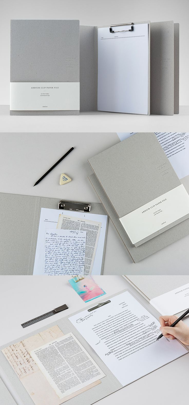 Always keep your documents safe, secure, and looking classy with this professional Ardium Hardcover File Folder!