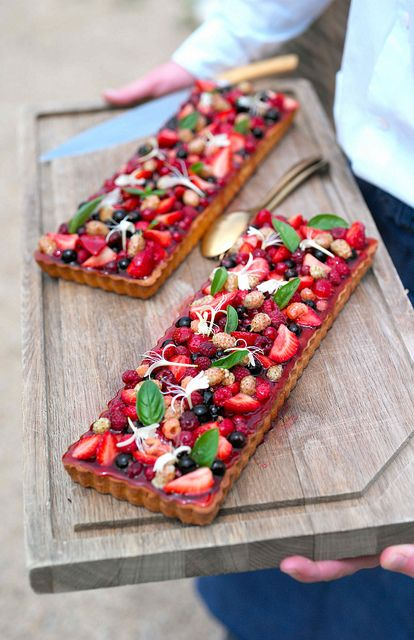 Tarte aux fruits rouges