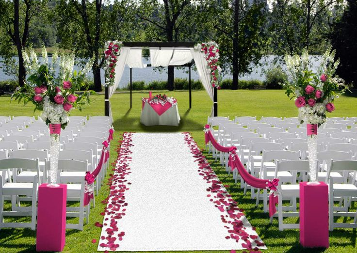 Outdoor Turf Wedding Aisle Runner White In Home Amp Garden