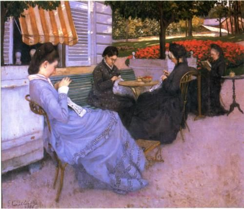 Portraits in the Countryside - Gustave Caillebotte, 1876, Musée Baron Gérard, Bayeux, France