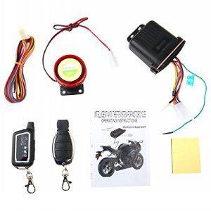 farsler 12V 125dB de Va et Vient Système d'alarme de sécurité antivol Télécommande Capteur de vibrations pour moto scooter…