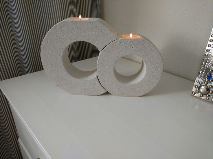 Beton Kerzenständer diy