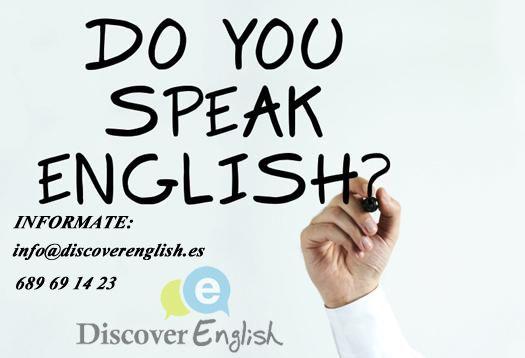 ¿necesitas clases de conversación de inglés? contacta con nosotros www.discoverenglish.es