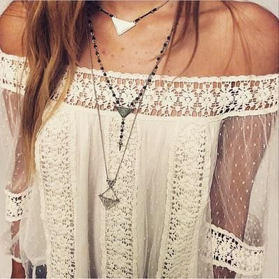 Layered necklaces add to the 70s boho vibe you're obviously channeling this…