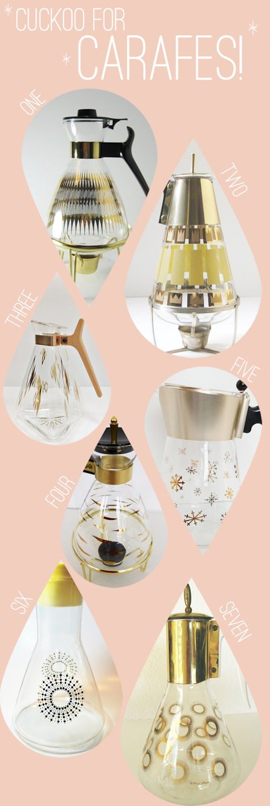 Retro glass coffee carafes - LOVE!