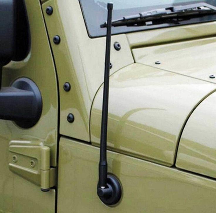 Mad Hornets - 13 Inch Rubber AM FM Radio Signal Antenna Jeep Wrangler JK (2007-2017) Black, $14.99 (http://www.madhornets.com/13-inch-rubber-am-fm-radio-signal-antenna-jeep-wrangler-jk-2007-2017-black/)
