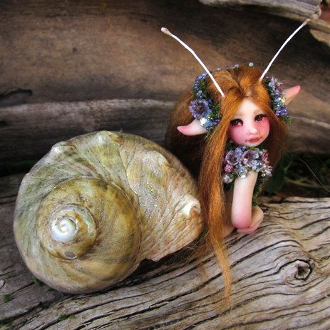 A Pretty Mermaid Fairy Mersnail by Celia Anne by scarletsbones, $78.00
