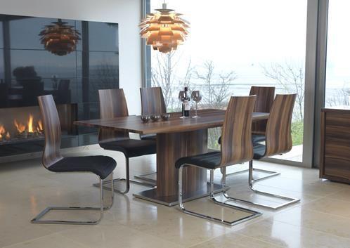 Messina, dining table 180 cm, walnut dining set, walnut dining table,  glass table, glass dining set, modern dining set, modern dining table, contemporary dining table, contemporary dining set