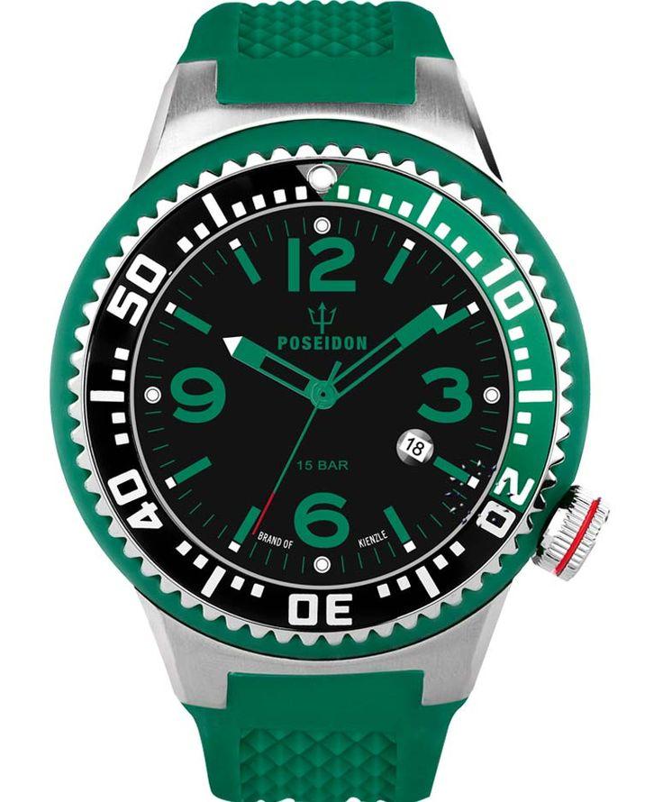 KIENZLE POSEIDON XXL Slim Green Silicone Strap Τιμή: 119€ http://www.oroloi.gr/product_info.php?products_id=34089