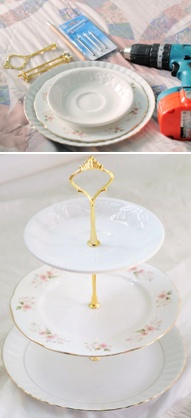 How to make your own dessert stand.