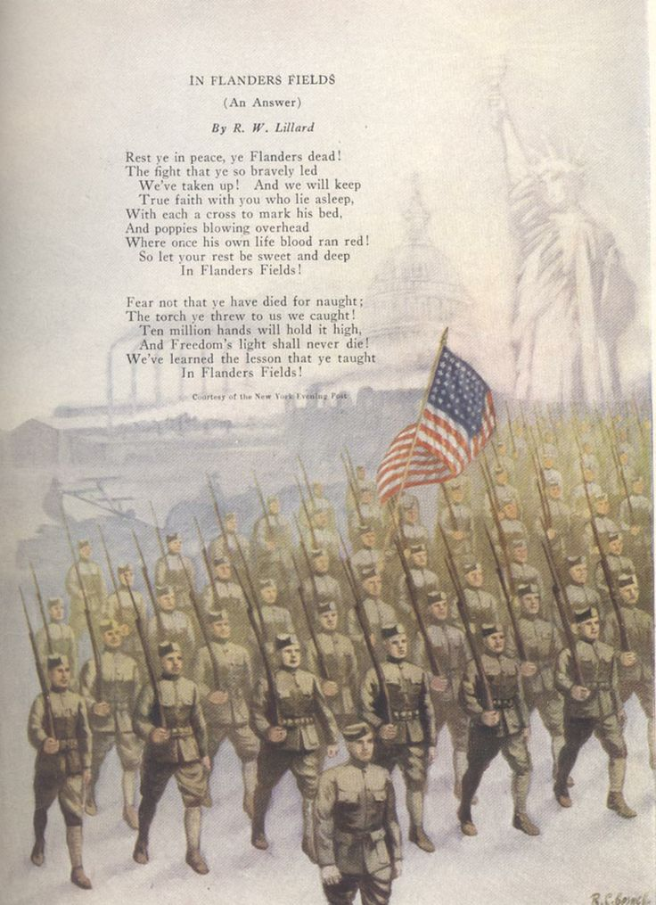 1915 – The poem In Flanders Fields is written by ...
