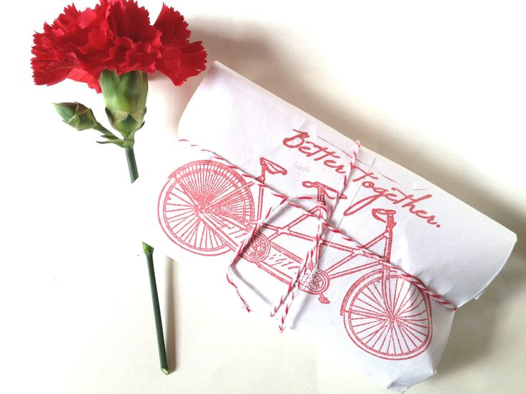 RESERVED Tandem Bike Coffee Favors and Napkin by AproposRoasters