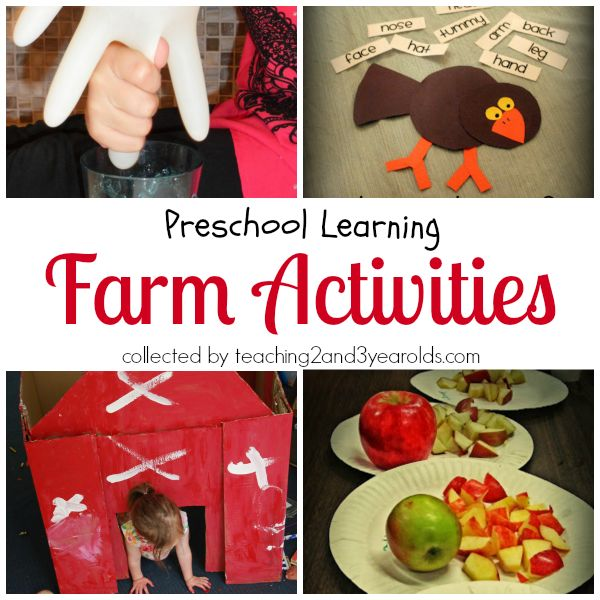 Farm activities, printables, book list, and songs.