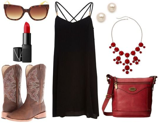 Quiz: Which Game Day Style Should You Rock This Football Season? Dress and cowboy boots football game look