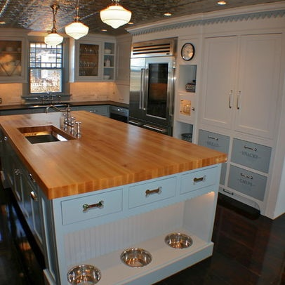 Check out the dog bowls...Eclectic Home Design, Pictures, Remodel, Decor and Ideas