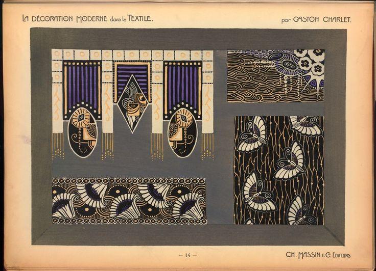 """""""La décoration moderne dans le textile"""" Ch. Massin & ..."""