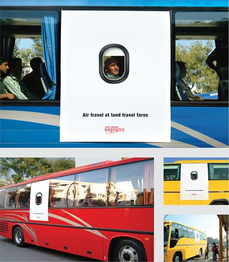 Air India Express Bus Guerrilla Marketing