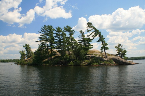 Dough Rock, Stoney Lake, Lakefield, Ontario - We would take our boats here as teens and spend a whole day diving, swimming and having a picnic.