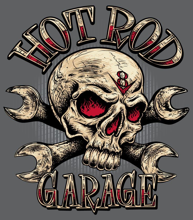 """Rat Rod"" Sign with Skull - Szukaj w Google"