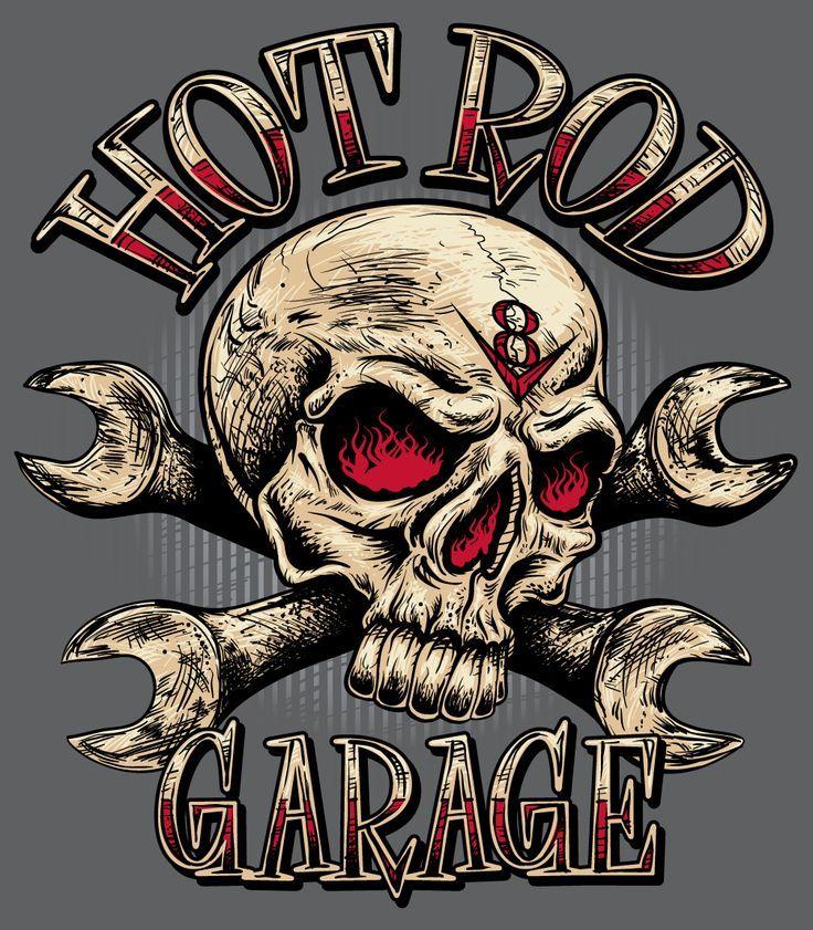 "Resultado de imagen de ""Rat Rod"" Sign with Skull"