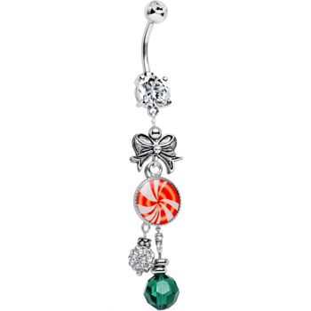 Handcrafted Holiday Delights Dangle Belly Ring | Body Candy Body Jewelry #BodyCandy