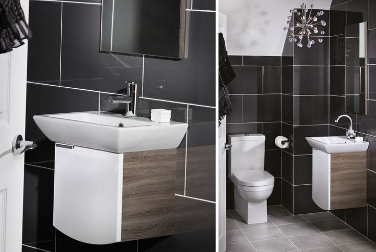 Featuring all the styling of the cloakroom unit, the slightly larger washbasin unit gives you even more storage and a generously sized washing area if space allows #youmodular #bathroomfurniture #myutopia
