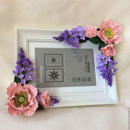 "Handmade Frames.  Photo frame ""Breath of Spring"".  ""One daisy, two daisy"" Lyudmila.  Arts and crafts fair."