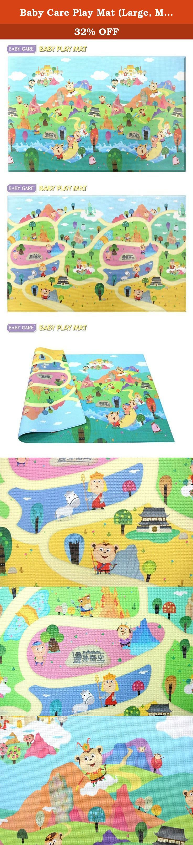 Baby Care Play Mat (Large, MonkeyKing). Developed specifically for growing babies and children, BABYCARE Baby Play Mat provides hygienic and safe floor space for the family with small ones. Babies and children can play safely on the floor, with stimulating and vibrant colors, characters, and educational elements like letters and numbers. This Play Mat is an essential item for the safe growth and development of your baby and toddler. It protects children from hard floor surfaces…