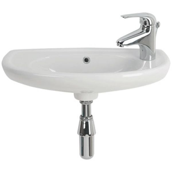 Twyford Galerie Optimise 535x260mm Short Projection Basin 1 Taphole White