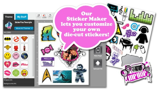 how to create sticker decals