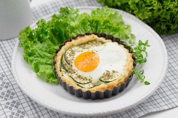 Tartaletki z jajkiem i cukinią #intermarche #tartaletki #jajko #cukinia