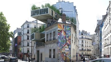 A project is underway in Paris which will see box-sized flats made of stainless steel attached to traditional buildings